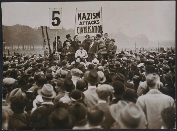 Antifascist demo in london, 1935