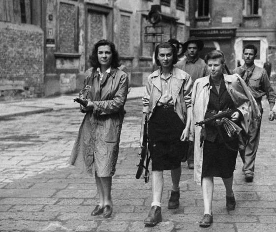 Italian partisans in Milan, April 1945.
